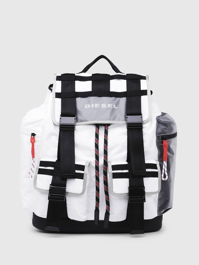Diesel - M-CAGE BACK, White/Black - Backpacks - Image 1