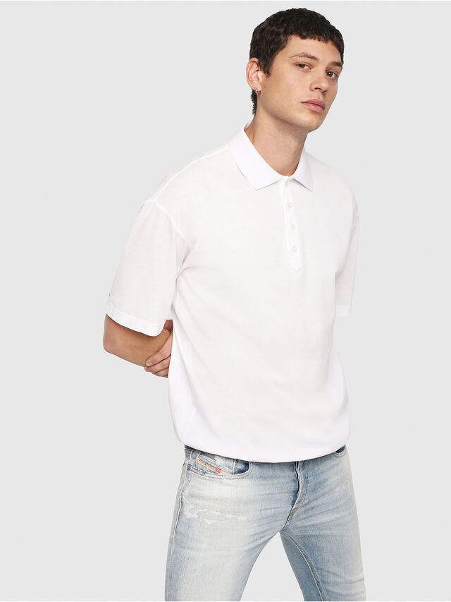 Diesel - T-PLATO, White - Polos - Image 1