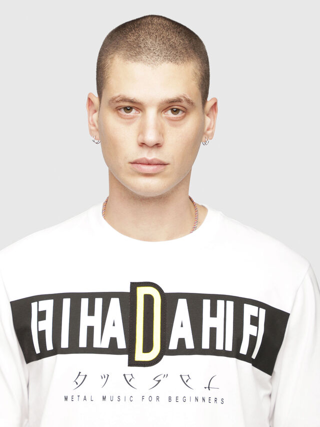 Diesel - T-JUST-YZ, White - T-Shirts - Image 3