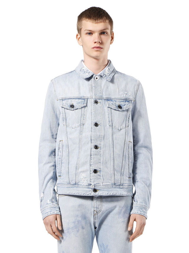 Diesel - JARTE, Light Blue - Jackets - Image 1