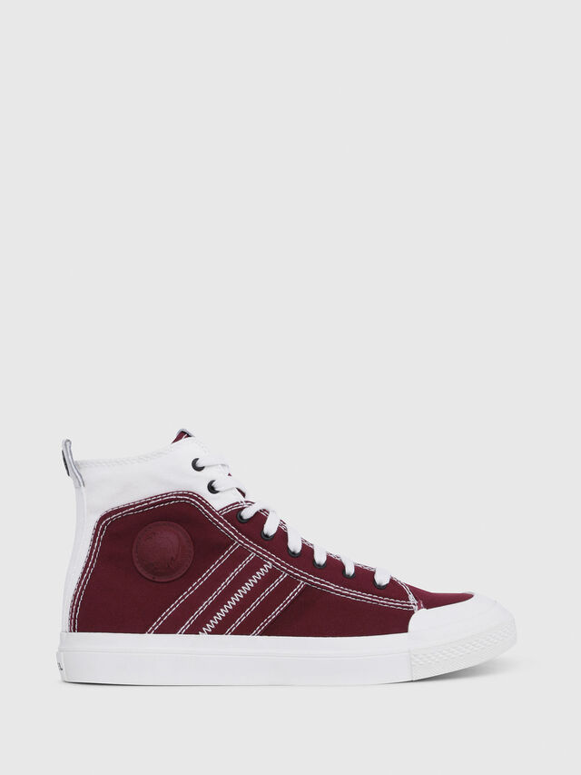 Diesel - S-ASTICO MID LACE, Burgundy - Sneakers - Image 1