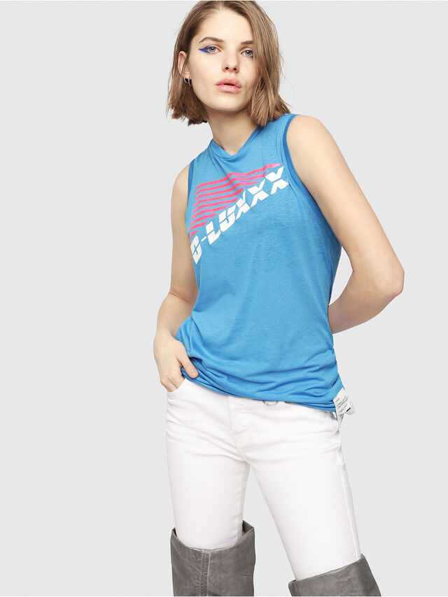 Diesel - T-ERINA-A, Blue - Tops - Image 1
