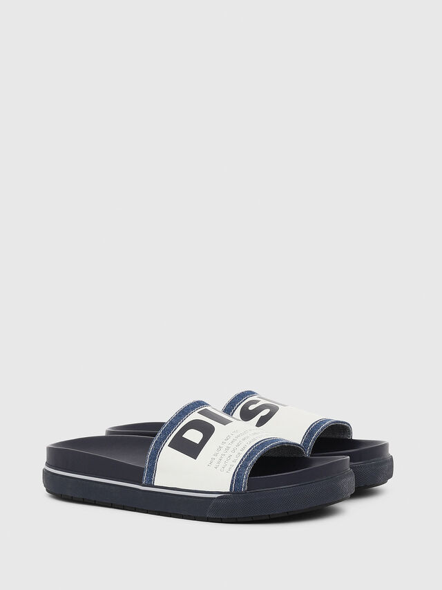 Diesel - SA-GRAND SLIDE, Blue/White - Slippers - Image 2