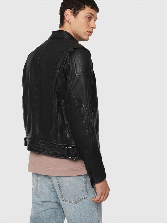 4c9c962f Diesel - L-YUJA, Black Leather - Leather jackets - Image 2