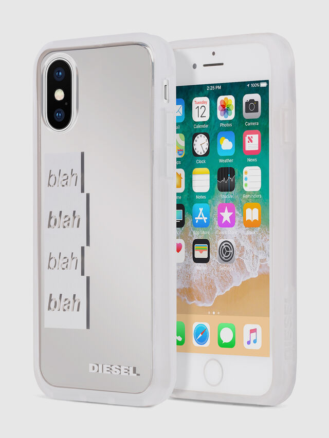 Diesel - BLAH BLAH BLAH IPHONE X CASE, White/Silver - Cases - Image 1
