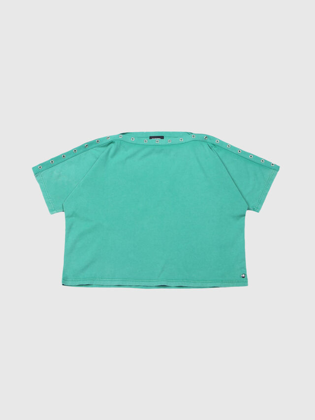 Diesel - TJLEOX, Water Green - T-shirts and Tops - Image 1