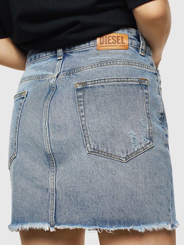 Diesel - DE-ELLE, Light Blue - Skirts - Image 4