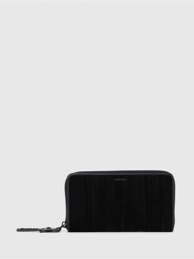Diesel - GRANATO, Black - Zip-Round Wallets - Image 1