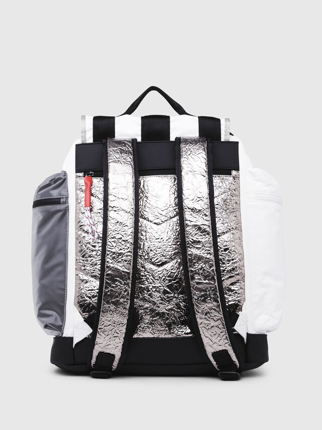 Diesel - M-CAGE BACK, White/Black - Backpacks - Image 2