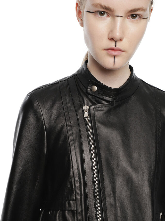 Diesel - LIKY, Black Leather - Leather jackets - Image 6