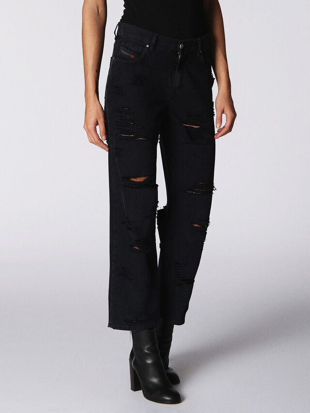 Diesel - Niclah 084NZ, Black/Dark Grey - Jeans - Image 1