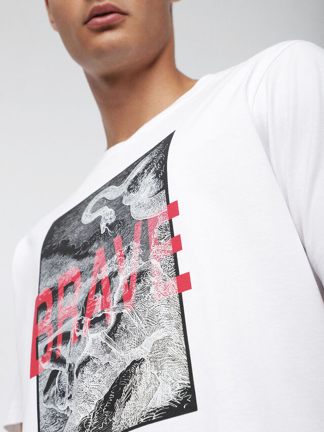 Diesel - T-JUST-XZ, White - T-Shirts - Image 3