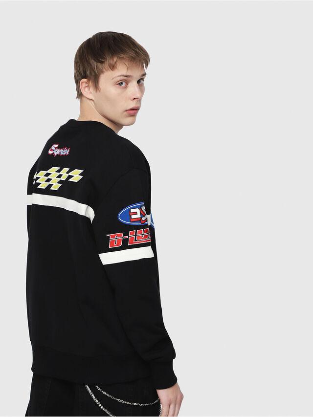 Diesel - S-BAY-YF, Multicolor/Black - Sweatshirts - Image 2