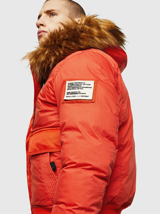 Diesel - W-BURKISK, Orange - Winter Jackets - Image 7