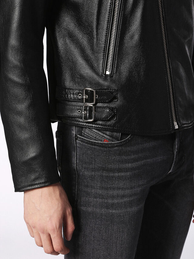 Diesel - L-KRAMPS, Black - Leather jackets - Image 8
