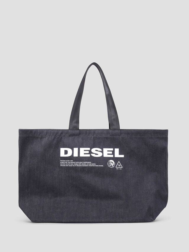 Diesel - D-THISBAG SHOPPER L, Blue Jeans - Shopping and Shoulder Bags - Image 1