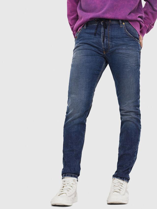 Diesel - Krooley JoggJeans 069FG, Medium Blue - Jeans - Image 1