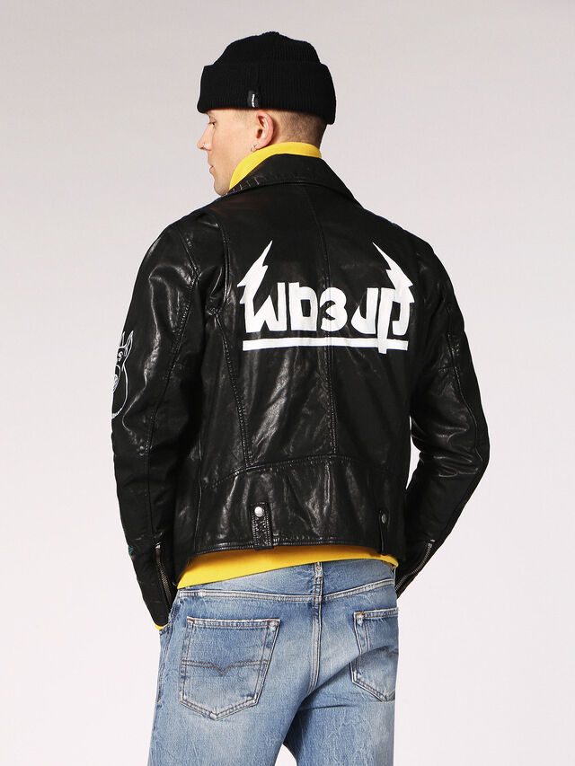 Diesel - L-WILL, Black Leather - Leather jackets - Image 2