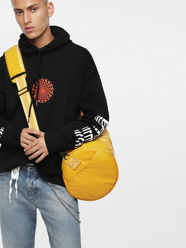 Diesel - F-BOLD DUFFLE, Yellow Ocher - Travel Bags - Image 4
