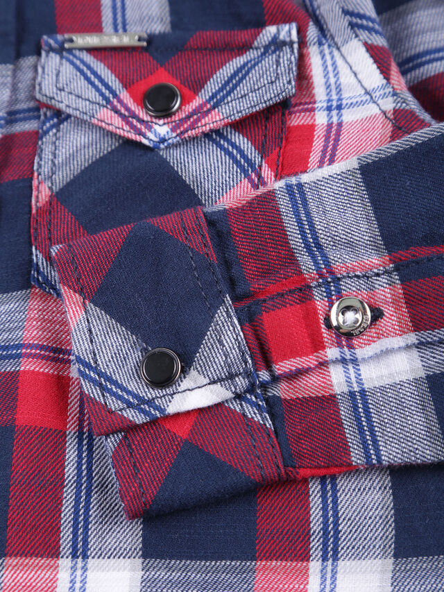 Diesel - CLENEB, Blue/Red - Shirts - Image 3