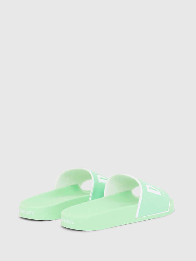 Diesel - SA-VALLA W, Green Fluo - Slippers - Image 3