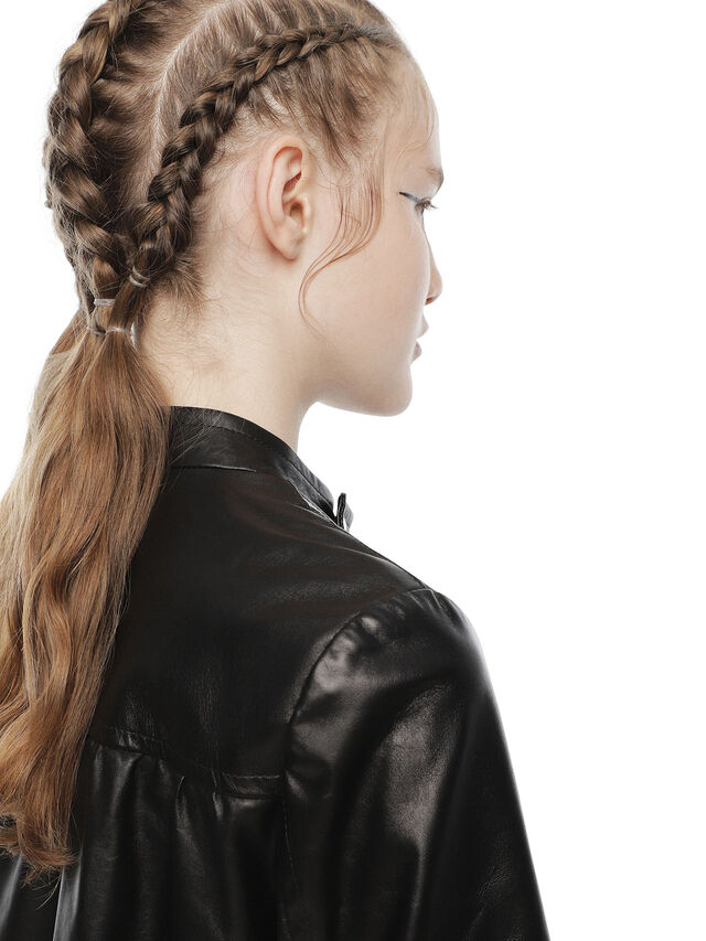 Diesel - LIKY, Black Leather - Leather jackets - Image 8