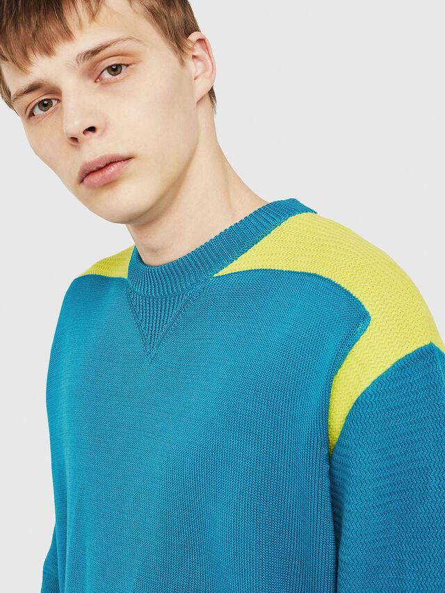 Diesel - K-MELT, Azure - Sweaters - Image 3