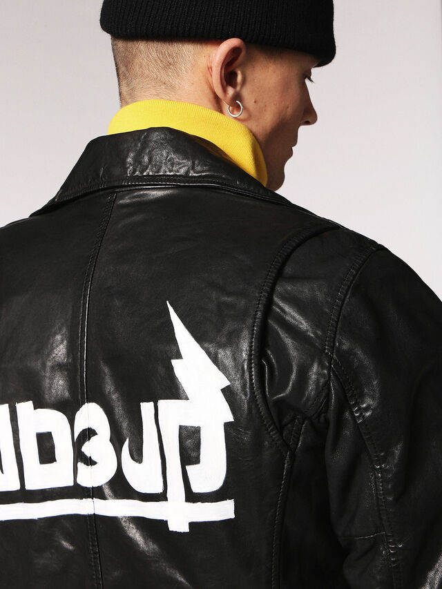 Diesel - L-WILL, Black Leather - Leather jackets - Image 5
