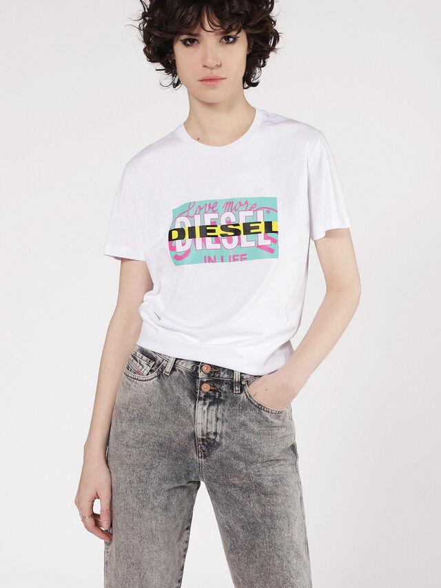 Diesel - T-LIGA, White - T-Shirts - Image 1