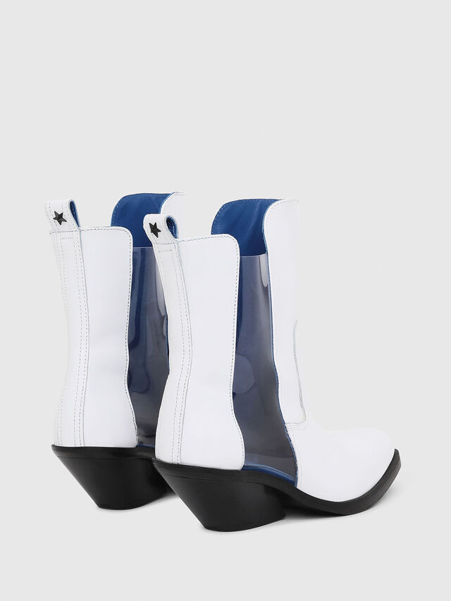 Diesel - D-GIUDECCA MAT, White - Ankle Boots - Image 3