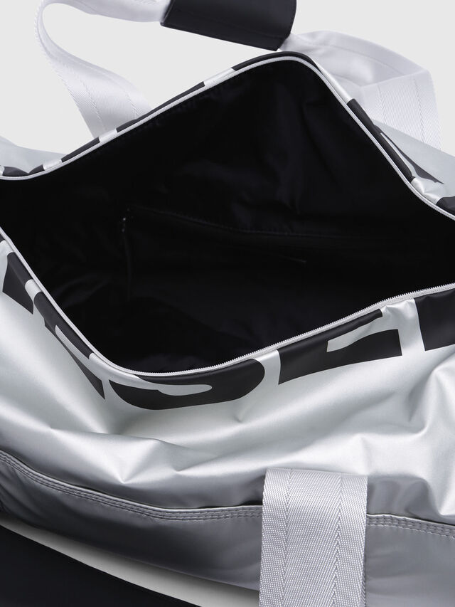 Diesel - F-BOLD DUFFLE, Silver - Travel Bags - Image 4