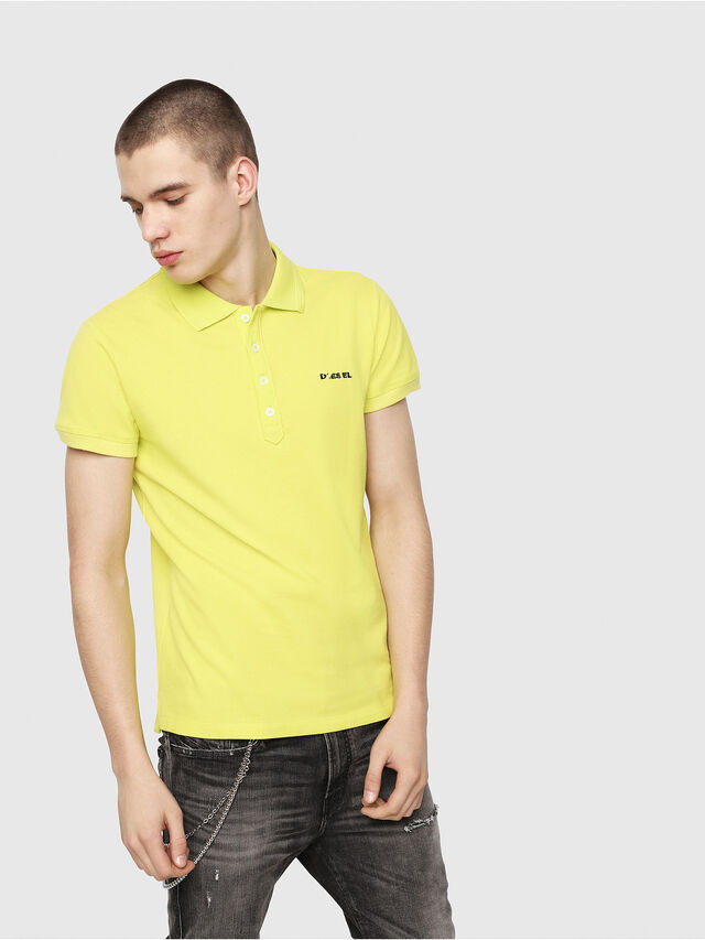 Diesel - T-HEAL-BROKEN-ST, Yellow Fluo - Polos - Image 1