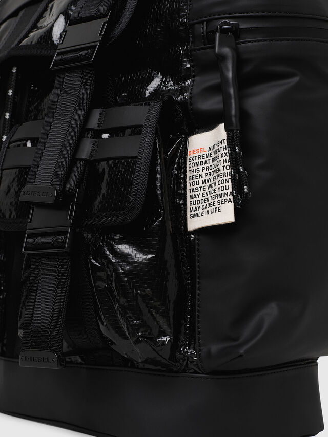 Diesel - M-CAGE BACK, Black - Backpacks - Image 3