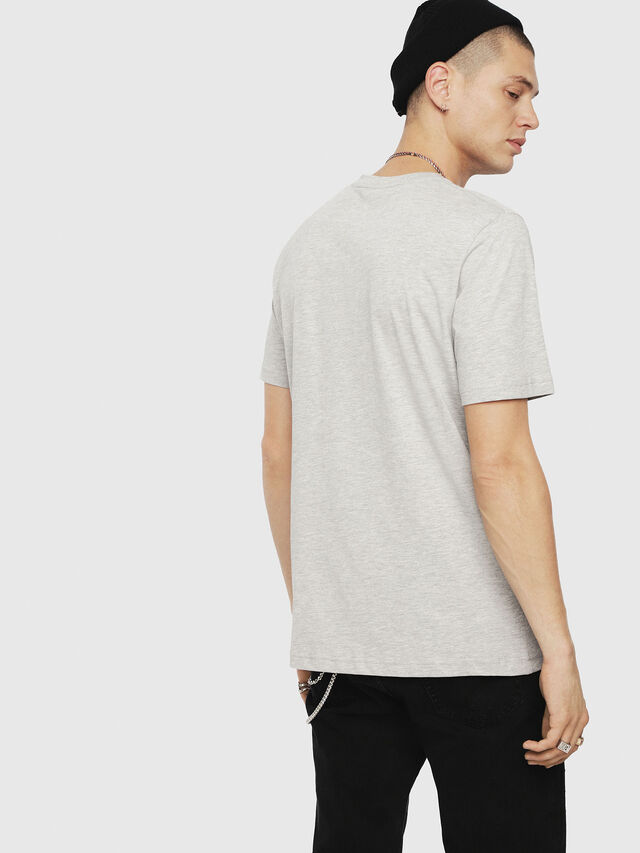 Diesel - T-JUST-DIVISION, Grey - T-Shirts - Image 2