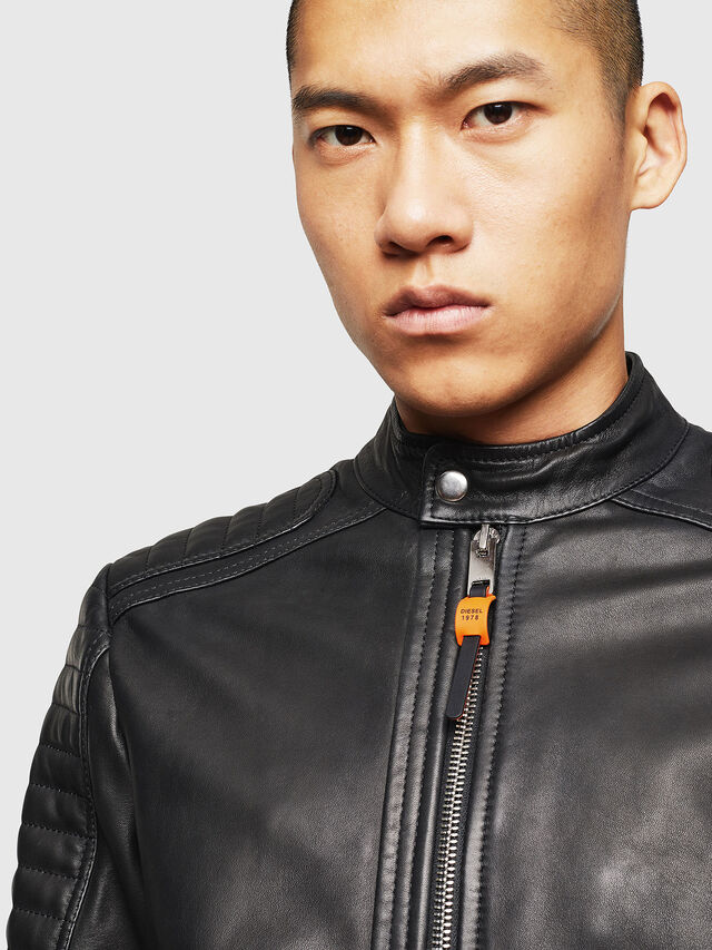 Diesel - L-SHIRO, Black Leather - Leather jackets - Image 3