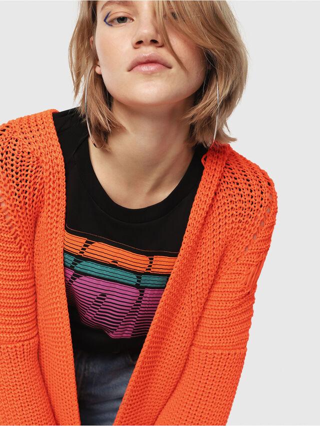 Diesel - M-CRI, Orange Fluo - Sweaters - Image 3