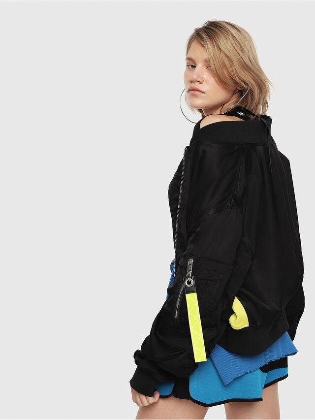 Diesel - G-KINSLEE-A, Black/Yellow - Jackets - Image 4