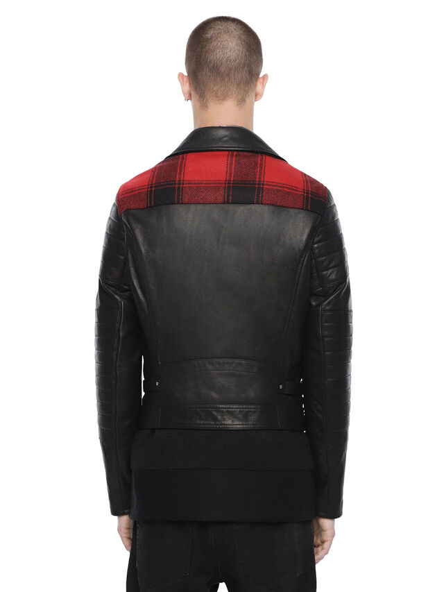 Diesel - LOCHECK, Black - Leather jackets - Image 2