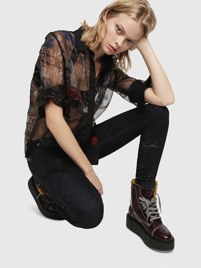 Diesel - Gracey JoggJeans 069CG, Dark Blue - Jeans - Image 4