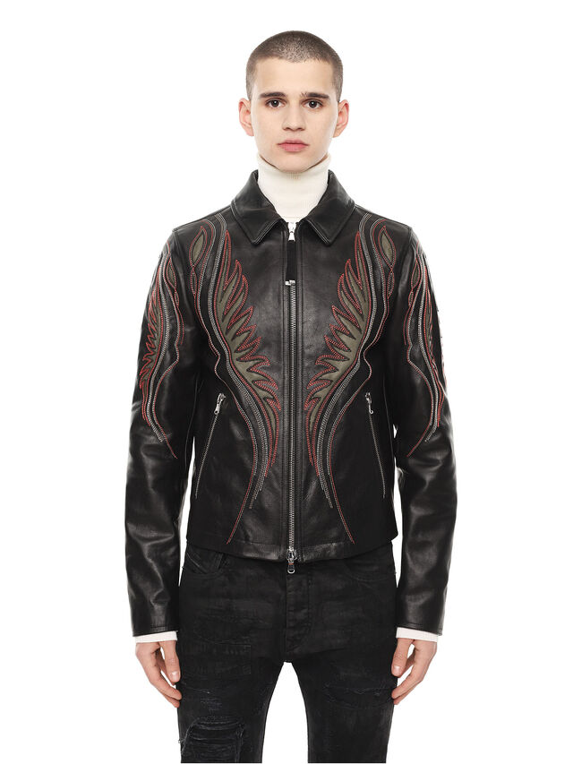 Diesel - LOLIQUE, Black - Leather jackets - Image 1
