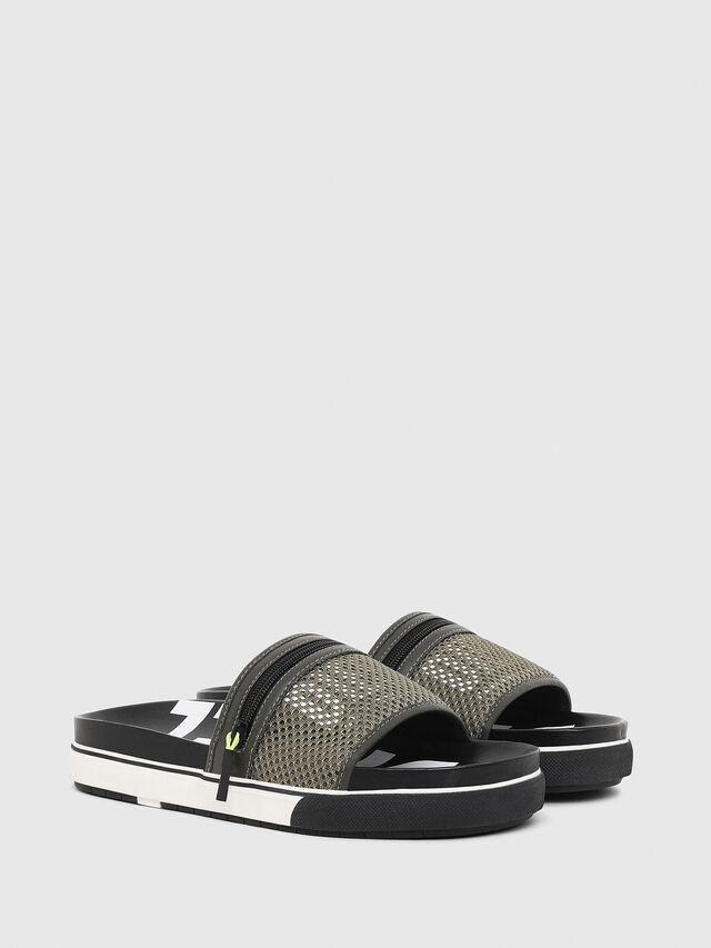 Diesel - SA-GRANDZ, Green/Black - Sandals - Image 2