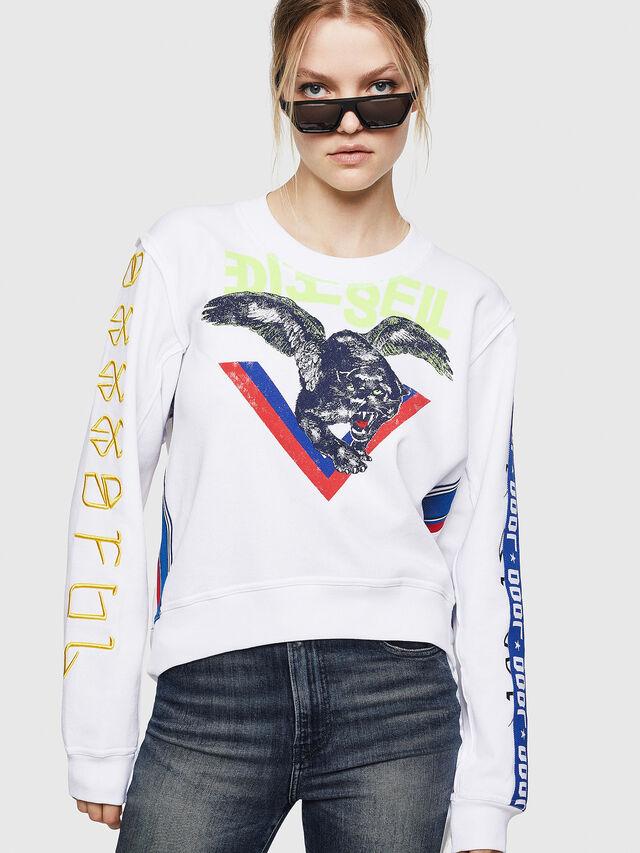 Diesel - F-LYANYDY, White - Sweatshirts - Image 1