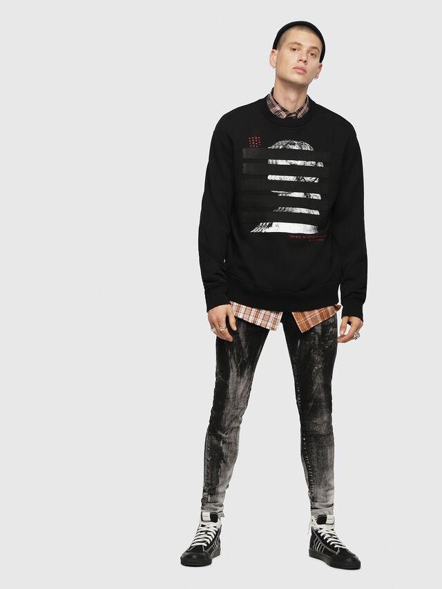 Diesel - S-BAY-YB, Black - Sweatshirts - Image 4