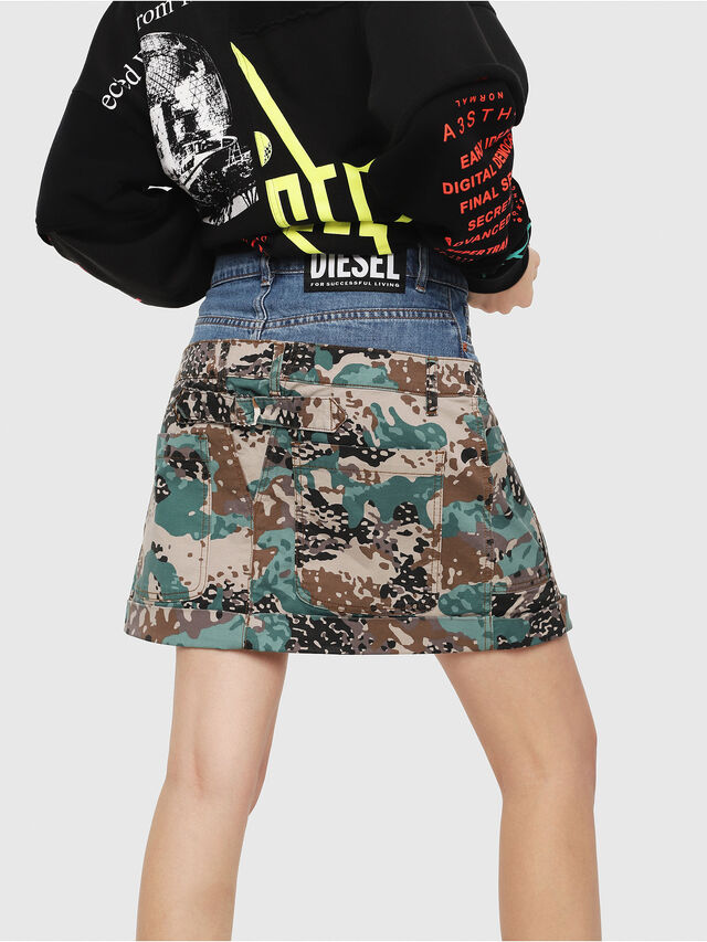 Diesel - O-CALI-A, Green Camouflage - Skirts - Image 2