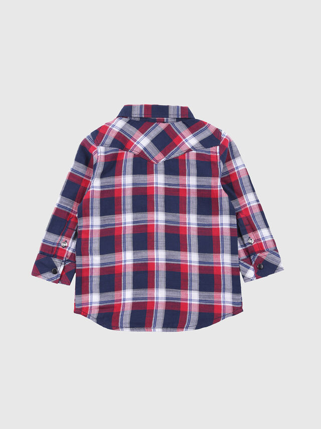 Diesel - CLENEB, Blue/Red - Shirts - Image 2