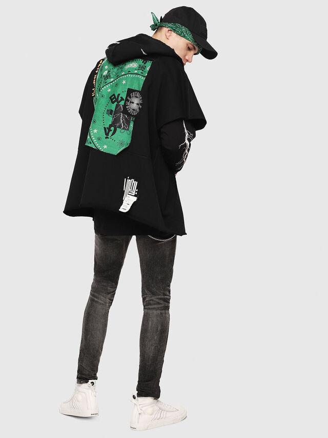 Diesel - S-MAKI-ZIP, Black/Green - Sweatshirts - Image 6
