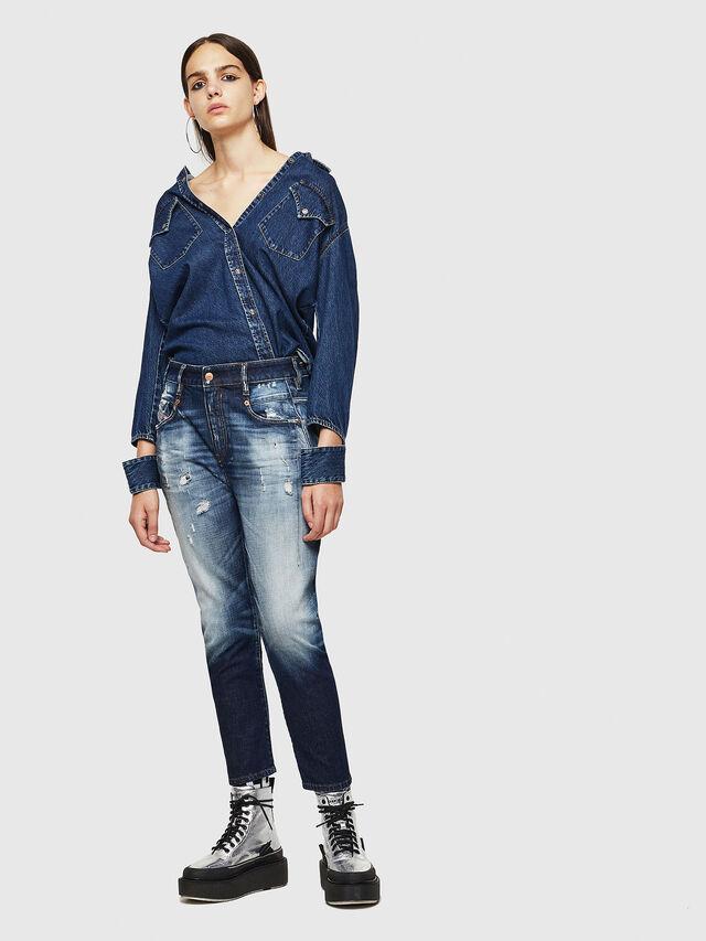 Diesel - Fayza 0092I, Medium Blue - Jeans - Image 6