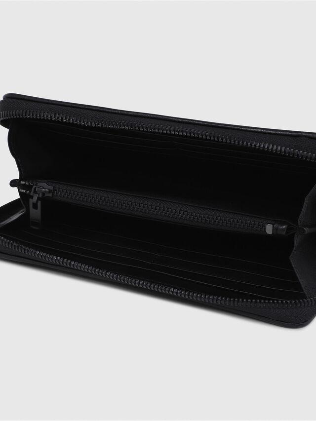 Diesel - GRANATO, Black - Zip-Round Wallets - Image 3