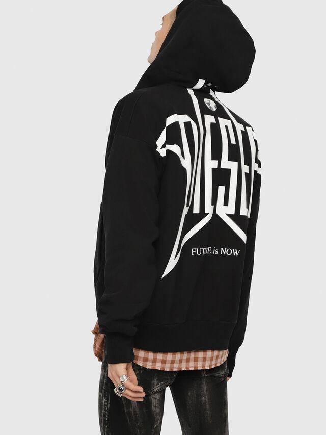 Diesel - S-ALBY-ZIP-YB, Black - Sweatshirts - Image 4