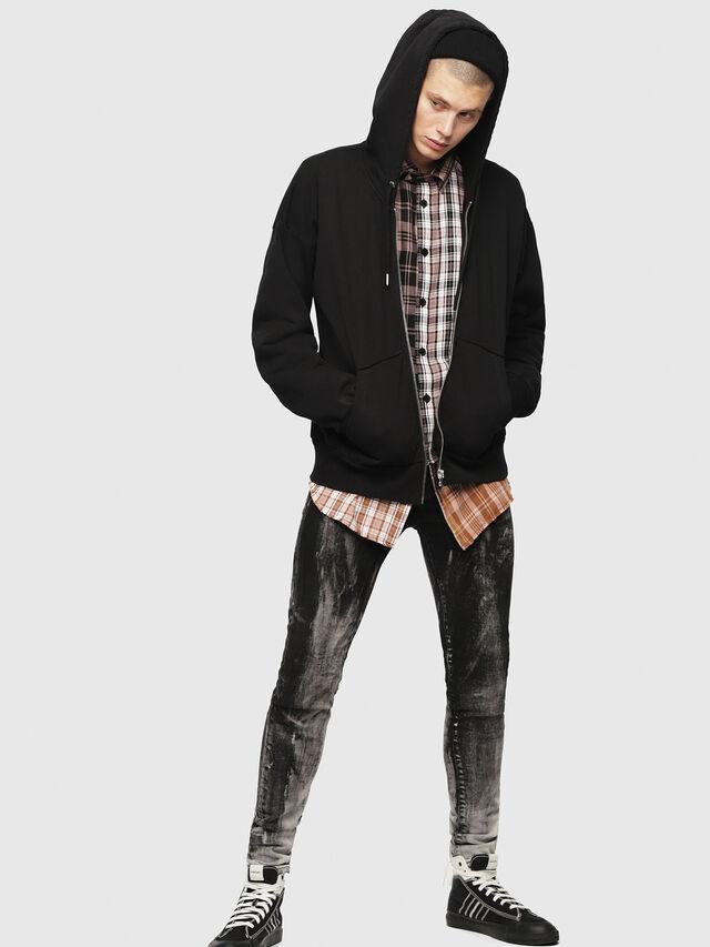 Diesel - S-ALBY-ZIP-YB, Black - Sweatshirts - Image 1
